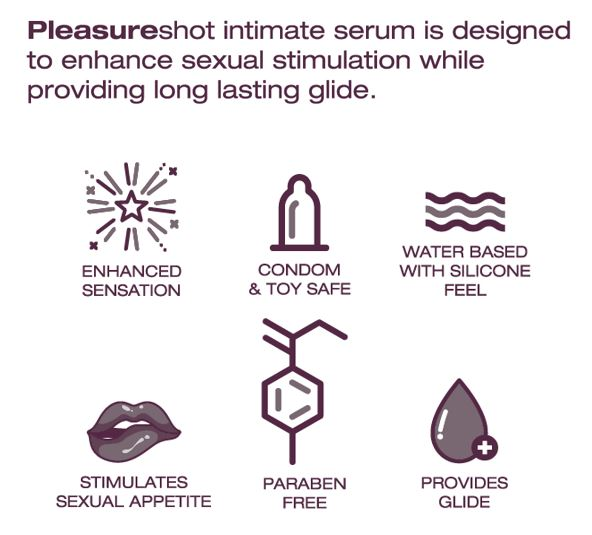 Pleasureshot intimate stimulating enhancing serum for females